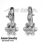 Russian style diamond earrings 585