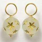 14k Gold Star Bead Charms