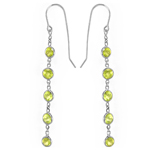 14k Dangling Peridot Earrings