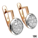 G-VS2 Diamond Earrings Malinka 18k Rose Gold