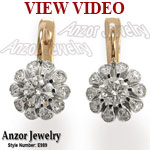 Russian Style Diamond Earrings 585 14k