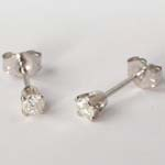 14k Gold Diamond Studs 1/3CT.