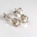 14k Gold Diamond Studs Earrings .34 CTW