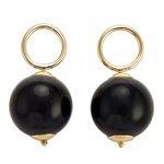 14k Solid Yellow Gold Onyx Charms