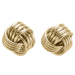 14k Solid Yellow Gold Love Knot Studs