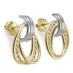 14k Gold Oval Loop Earrings