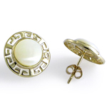 14k Gold Mother of Pearl Earrings