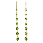 14k Peridot Dangling Earrings