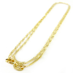 14k Yellow Gold Singapore Chain Necklace