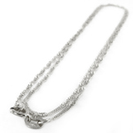 14k White Gold Singapore Chain Necklace
