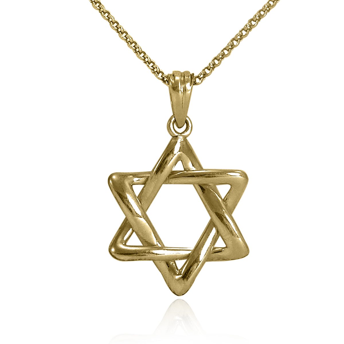 14k Gold Jewish Star of David