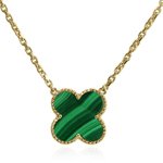 14k Gold Genuine Malachite Necklace