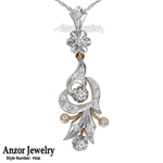 Russian Style Diamond Pendant in 18k