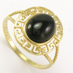 14k Gold Greek Onyx Ring
