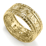 Men's 14k Yellow Gold Roman Design Ring