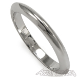 Knife Edge Wedding Band Ring in 10k W/ Gold