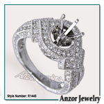 950 Platinum Diamond Engagement Ring Setting