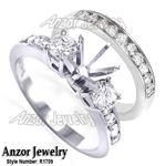 14k Gold Diamond Engagement Ring Set