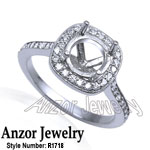 Pave Diamond setting ring in Platinum