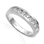 Platinum 950 Diamond Wedding Band ring