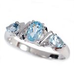 14k Gold Aquamarine Ring 1.0 cwt.