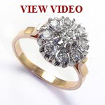 Russian style Diamond Engagement Ring 585