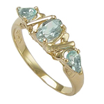 14k Gold Aquamarine Ring 1ct.