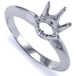 Six-Prong Knife Edge Ring Mounting 14K