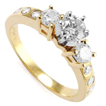 14k Two Tone Diamond Engagement Ring